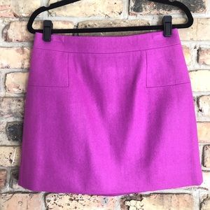 J. Crew Felted Wool Mini Skirt